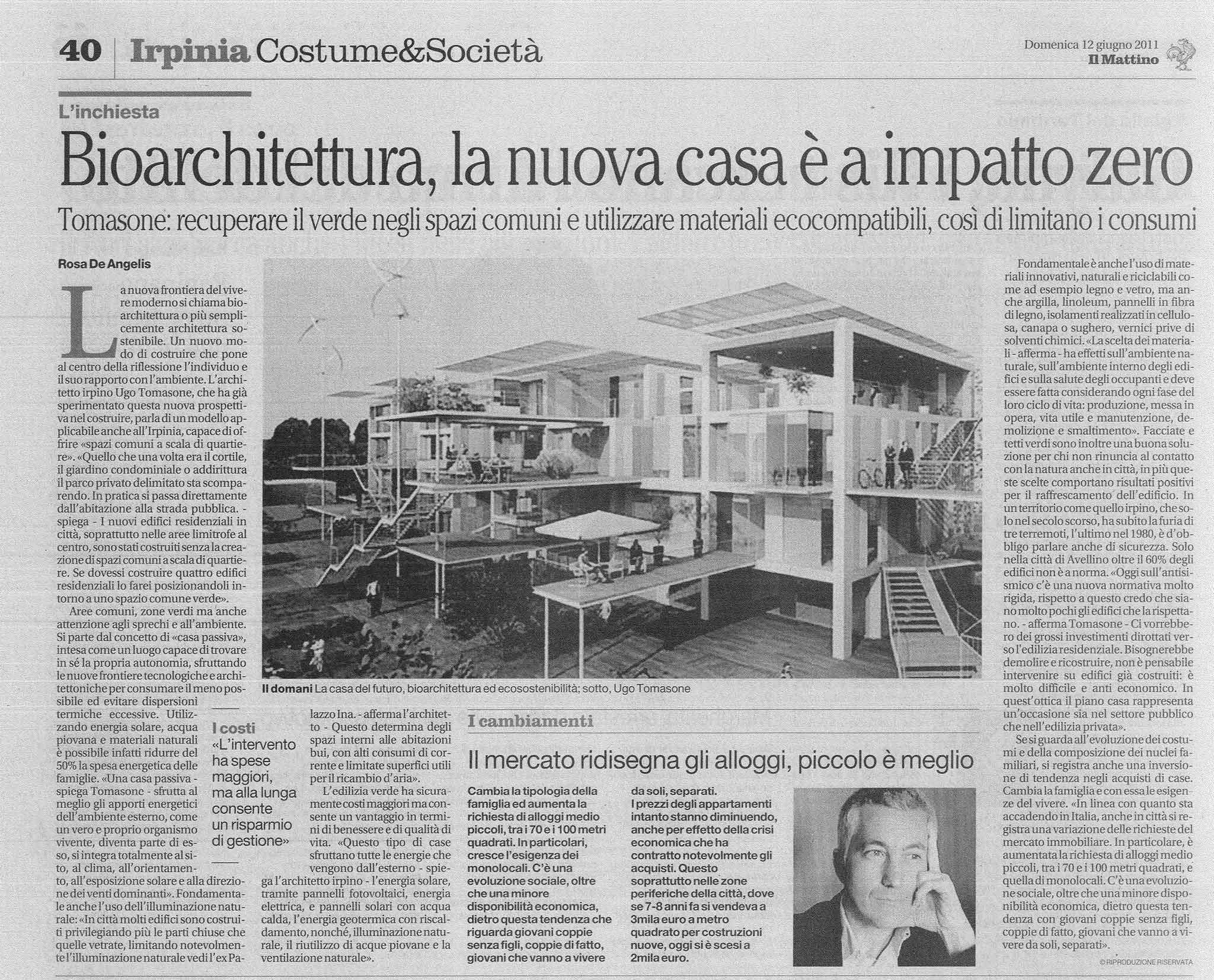 Articolo Il Mattino 12.6.2011